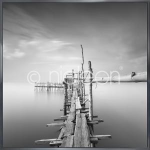 """Beeld met lijst """"Malaysian Fishing I"""" met lijst van aluminium Alpha"""