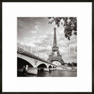 """Beeld met lijst """"Paris black and white"""" met lijst van aluminium C2"""