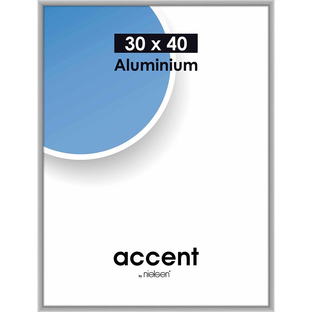 Lijst van aluminium Accent 30x40 cm | zilver mat | normaalglas