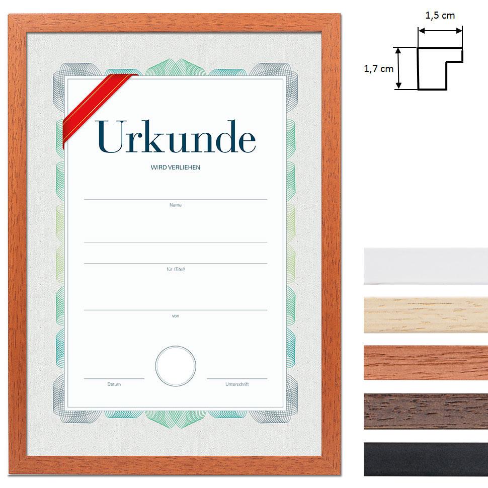 Lijst van hout met certificaat, DIN A4