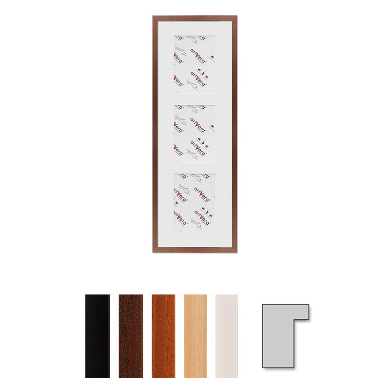 """Galerij lijst voor 3 """"Lund"""", 23x70 cm - 13x18 cm"""