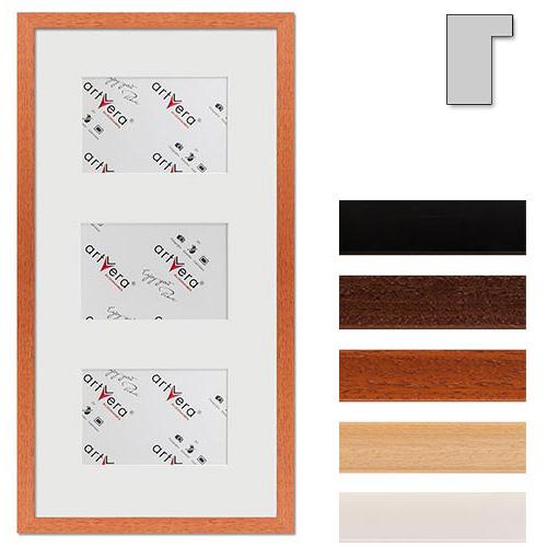 """Galerij lijst voor 3 """"Lund"""", 25x50 cm - 10x15 cm"""