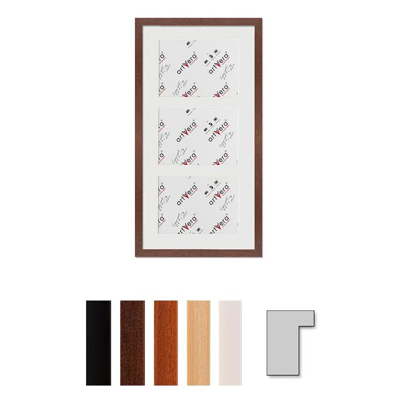"""Galerij lijst voor 3 """"Lund"""", 25x50 cm - 13x18 cm"""