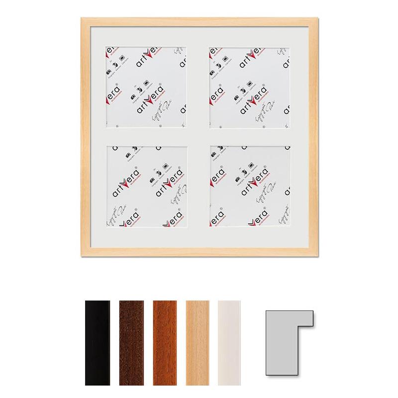 """Galerij lijst voor 4 """"Lund"""", 40x40 cm - 15x15 cm"""
