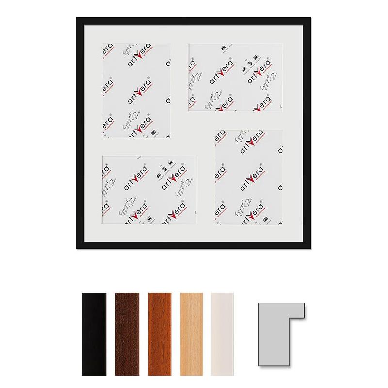 """Galerij lijst voor 4 """"Lund"""", 50x50 cm - 15x20 cm"""