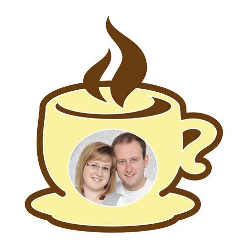 """Passe-partout met motief """"kop koffie"""""""