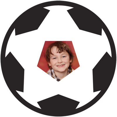 "Passe-partout met motief ""voetbal"""
