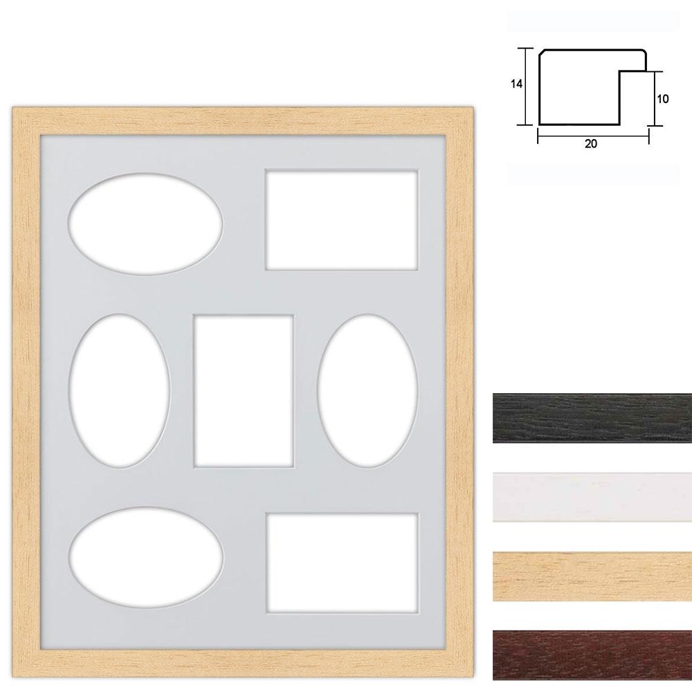 7 Foto's Galerij lijst van hout 40x50 cm