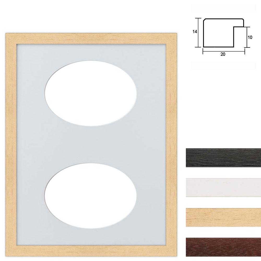 6 Foto's Galerij lijst van hout 30x40 cm ovale knipsel