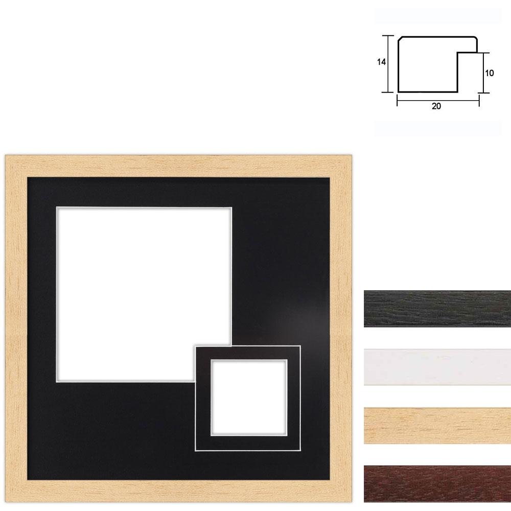 6 Foto's Galerij lijst van hout 30x30 cm