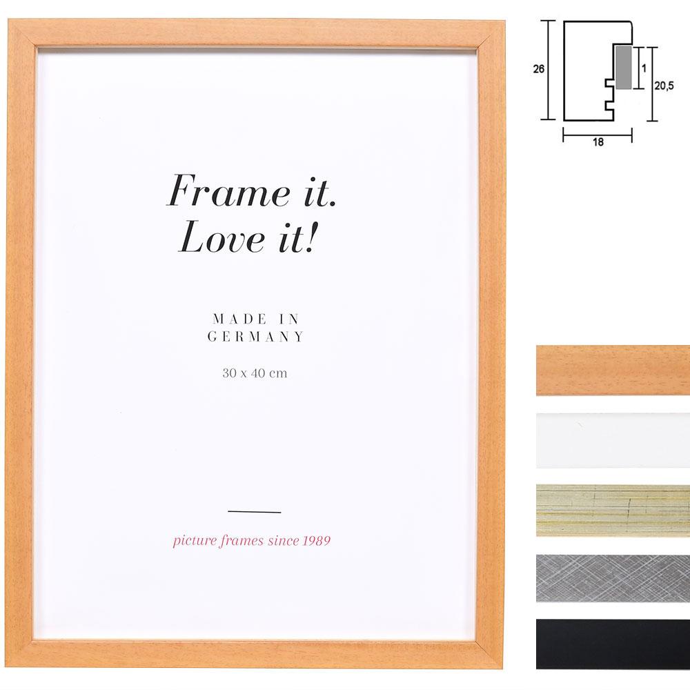 Lijst van hout Figari met afstandlijst op maat