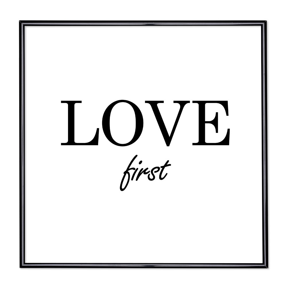 Fotolijst met slogan - Love First