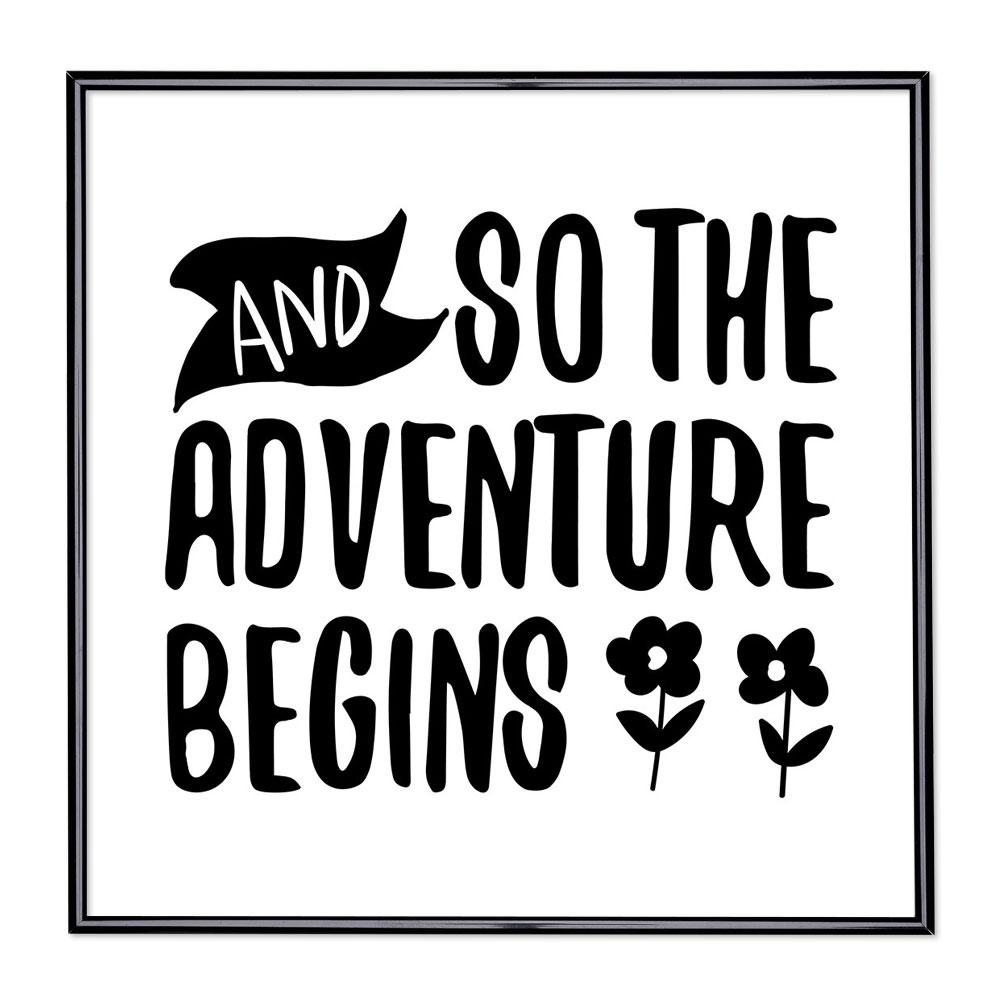 Fotolijst met slogan - And So The Adventure Begins