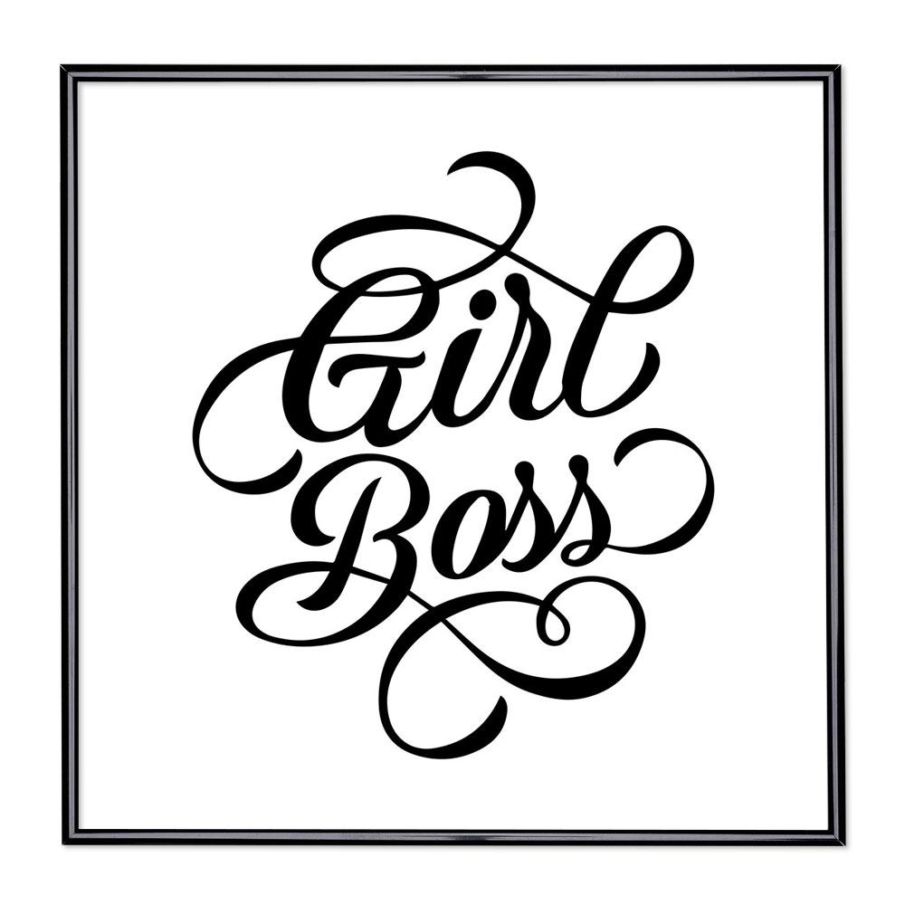 Fotolijst met slogan - Girl Boss
