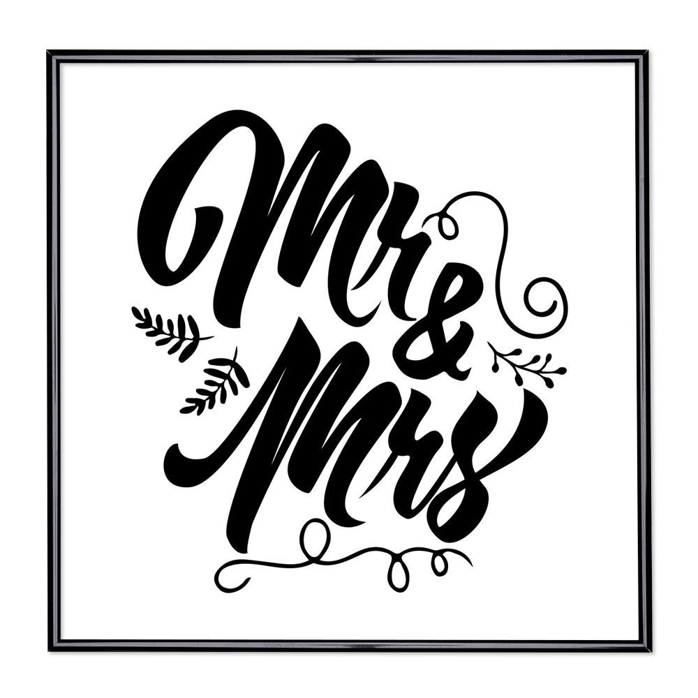 Fotolijst met slogan - Mr & Mrs