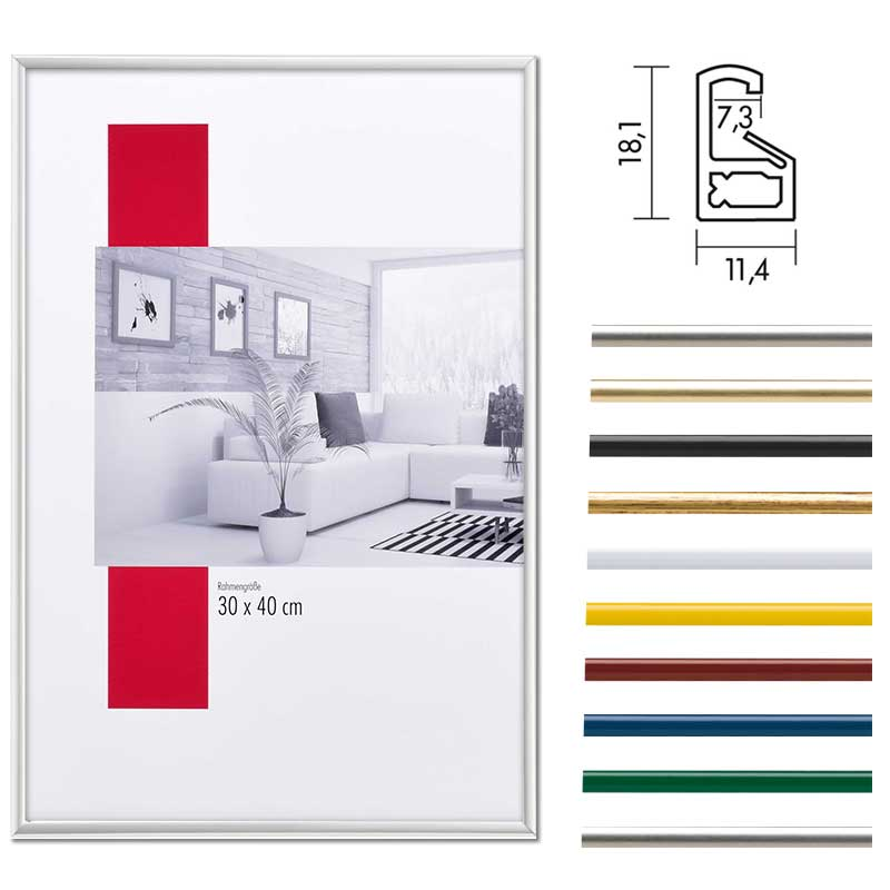 Lijst van plastiek ART 10x15 cm | zilver | normaalglas