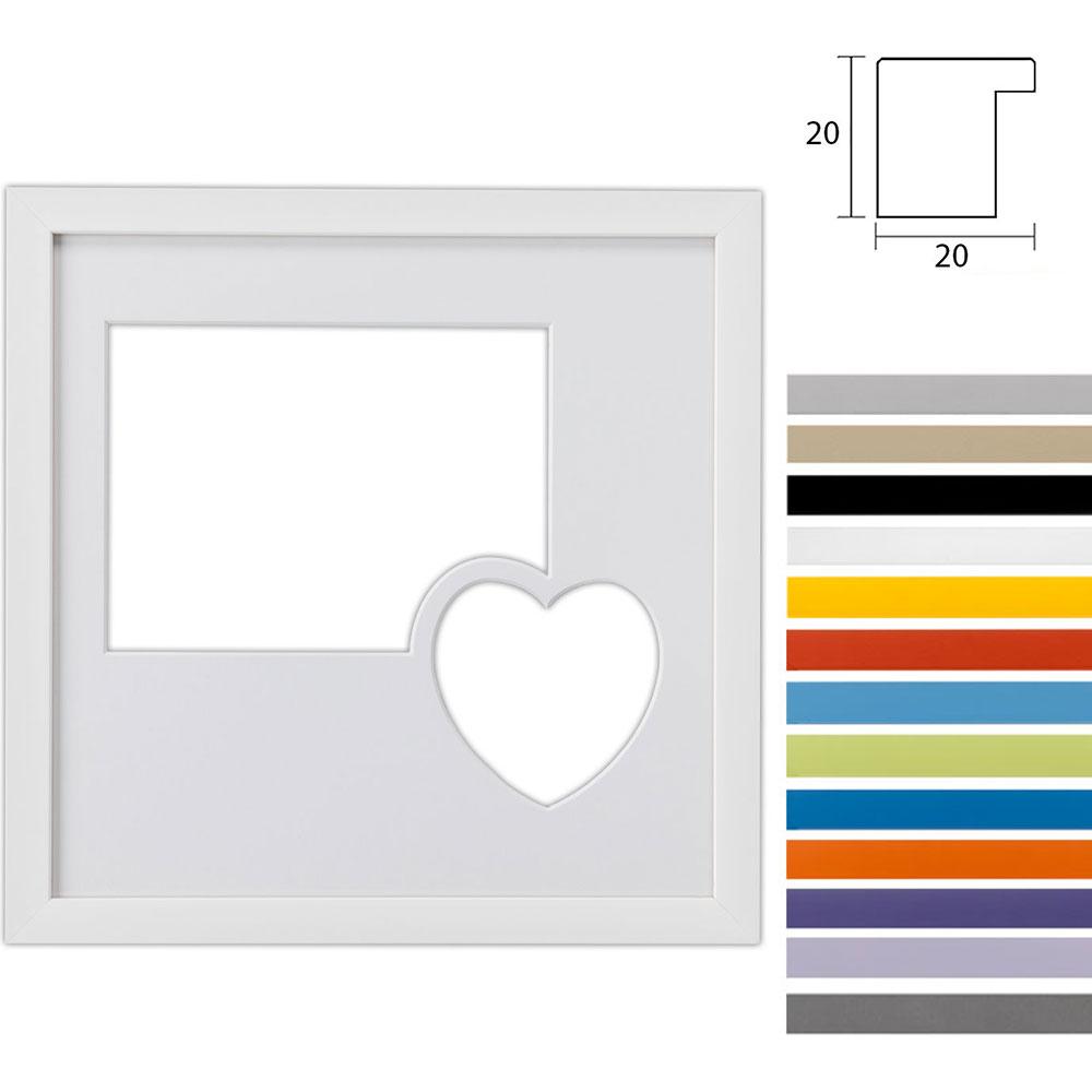2 Foto's Gallery Top Cube, 30x30 cm met hart