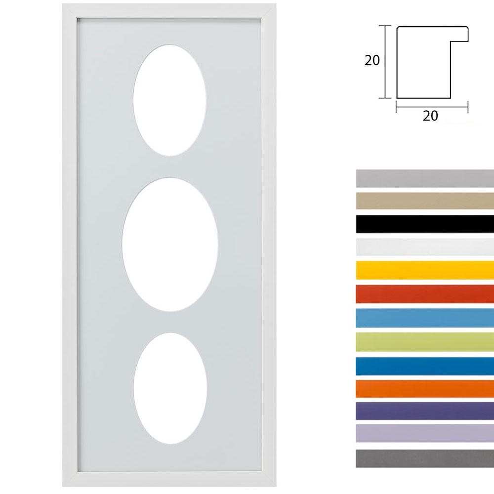 3 Foto's Gallery Top Cube, 25x60 cm ovale knipsel