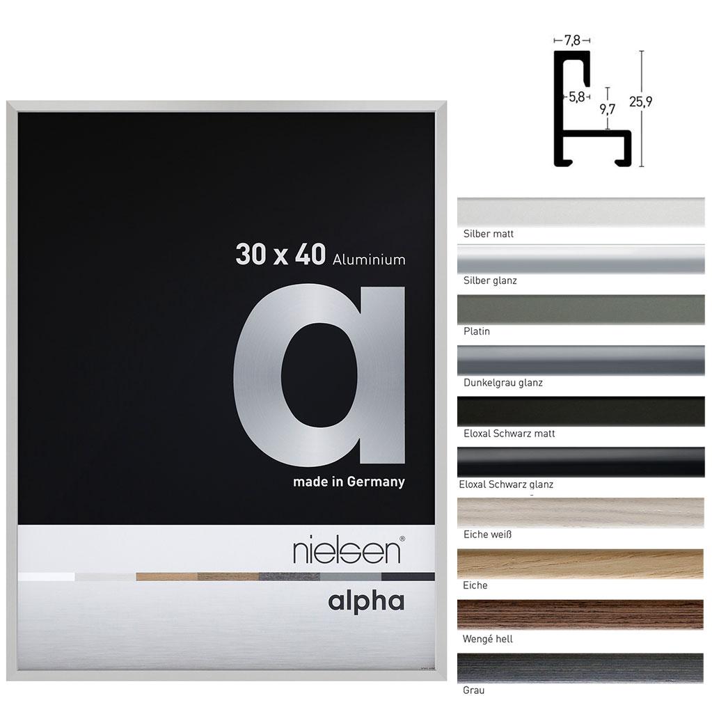 Lijst van aluminium op maat, profil alpha