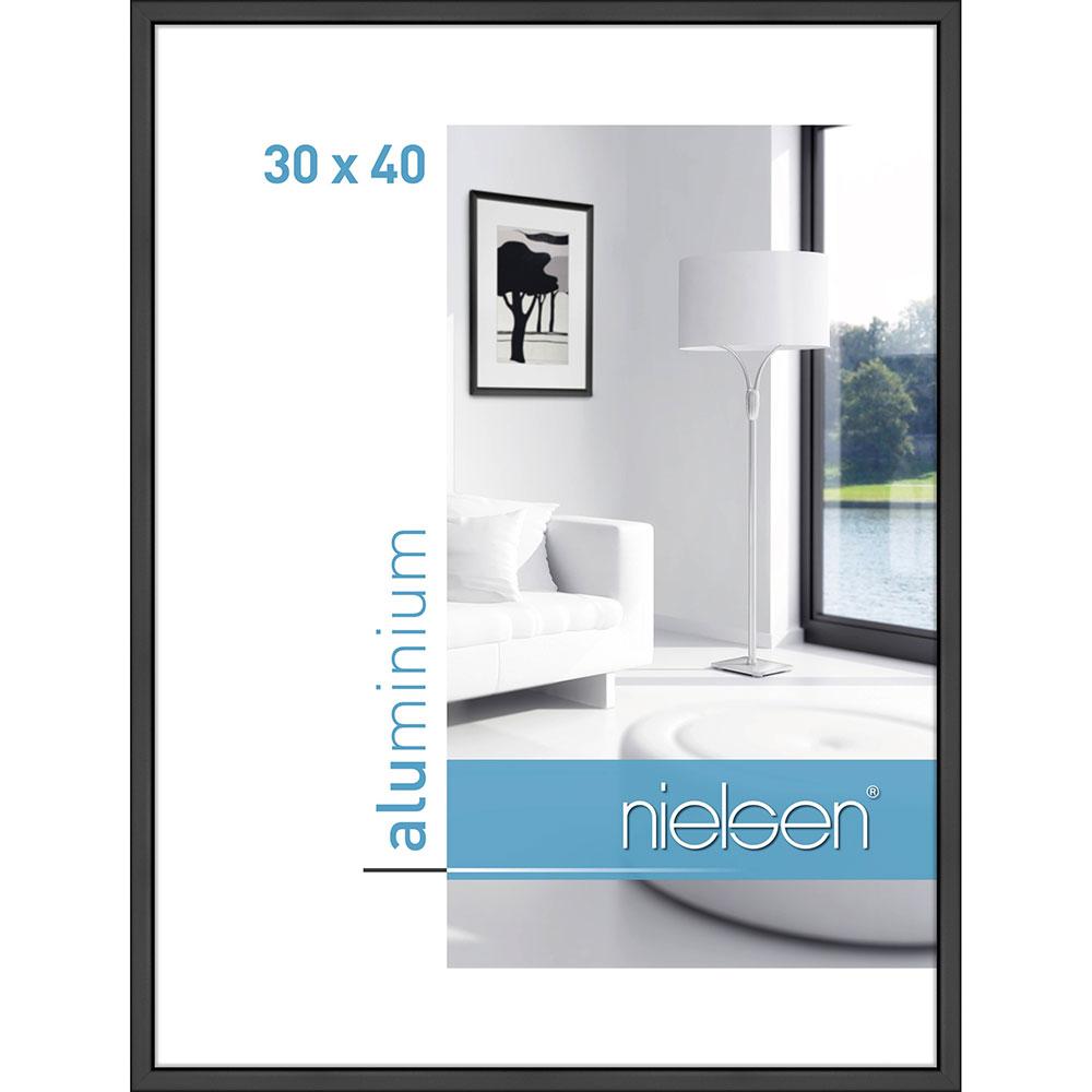 Lijst van aluminium Classic 30x40 cm | zwart mat | normaalglas