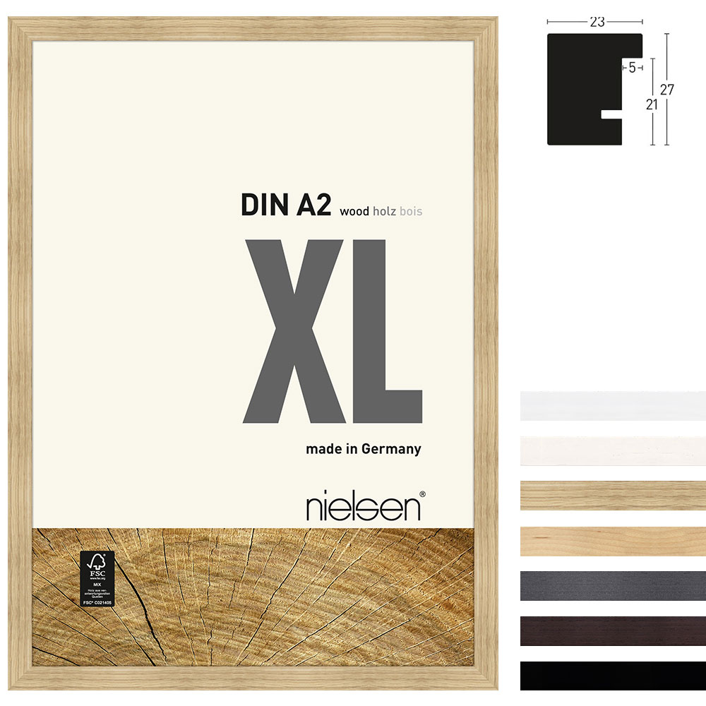 Lijst van hout Quadrum XL