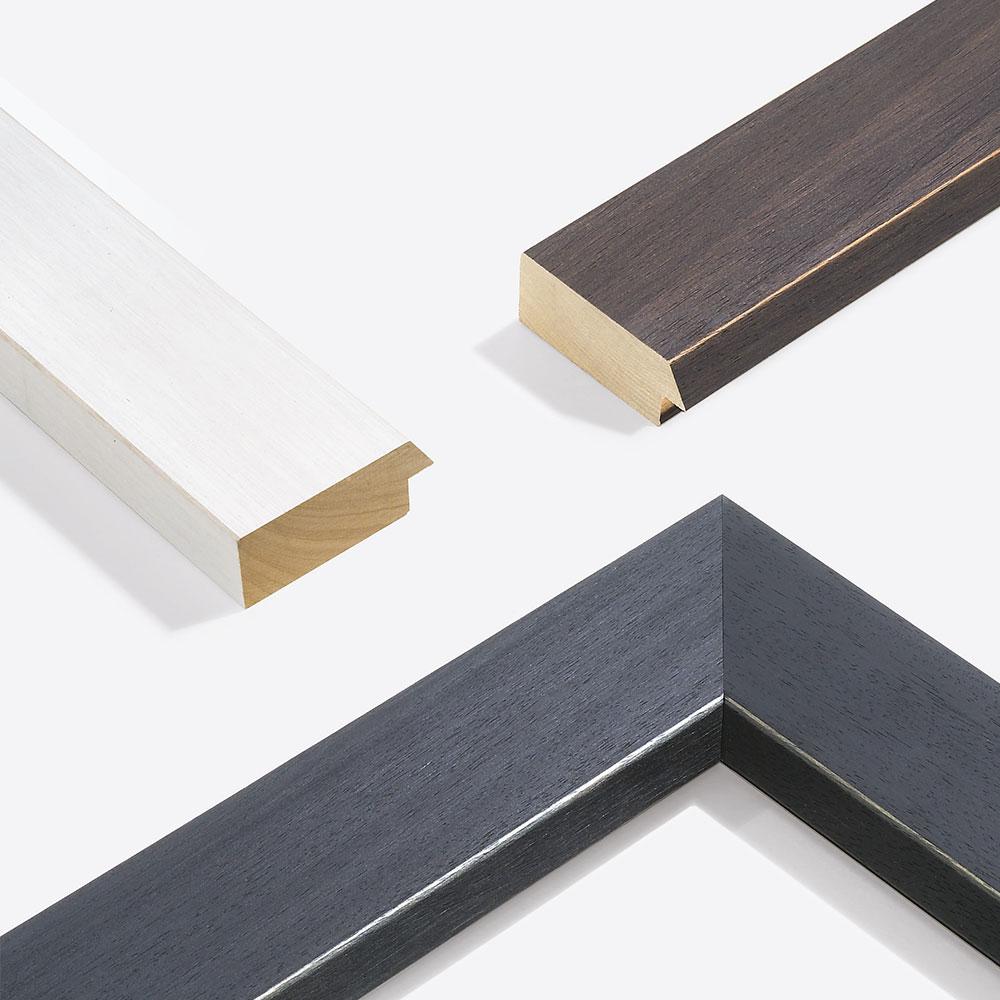 Lijst van hout Modern Shabby 75