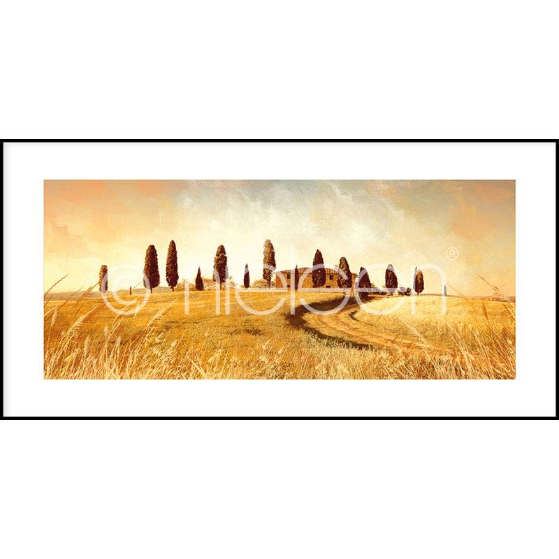 """Beeld met lijst """"Landscape Italy"""" met lijst van aluminium C2"""
