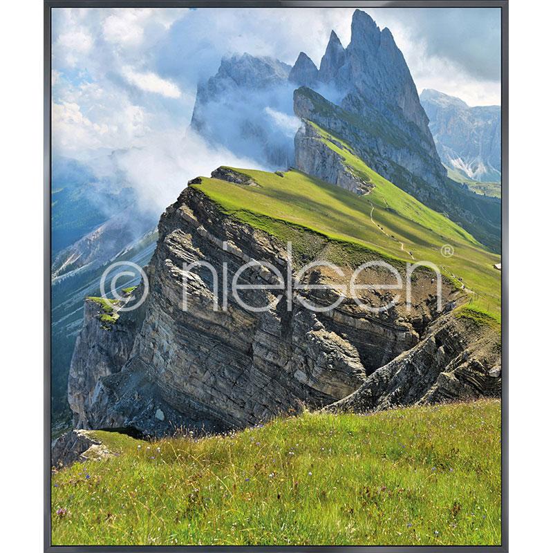 """Beeld met lijst """"Mountain Range"""" met lijst van aluminium Alpha"""