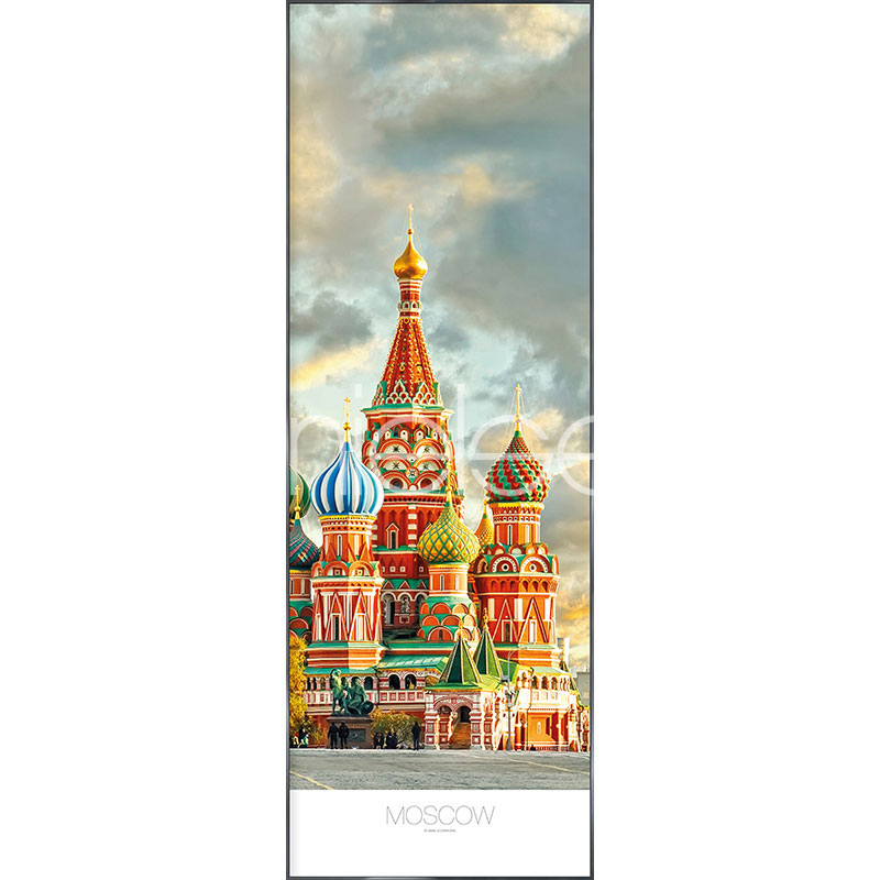 """Beeld met lijst """"Moscow"""" met lijst van aluminium Alpha"""