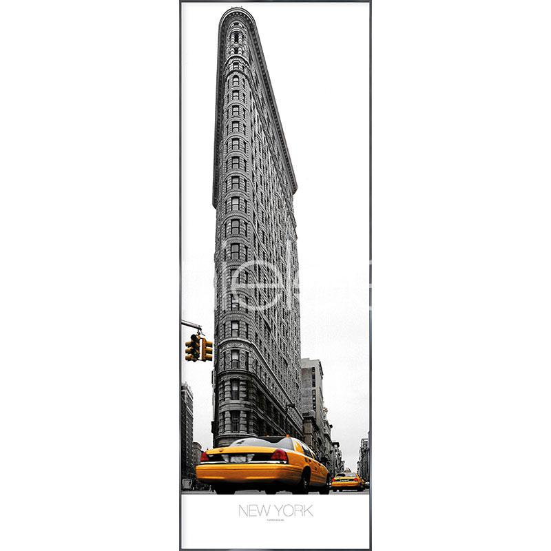"""Beeld met lijst """"Flatiron Building"""" met lijst van aluminium Alpha"""