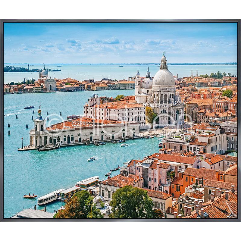 """Beeld met lijst """"Venice Santa Maria"""" met lijst van aluminium Alpha"""