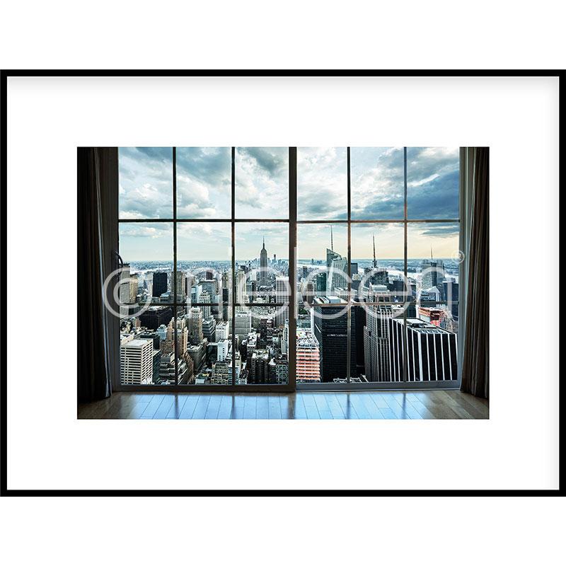 """Beeld met lijst """"Living Room"""" met lijst van aluminium C2"""