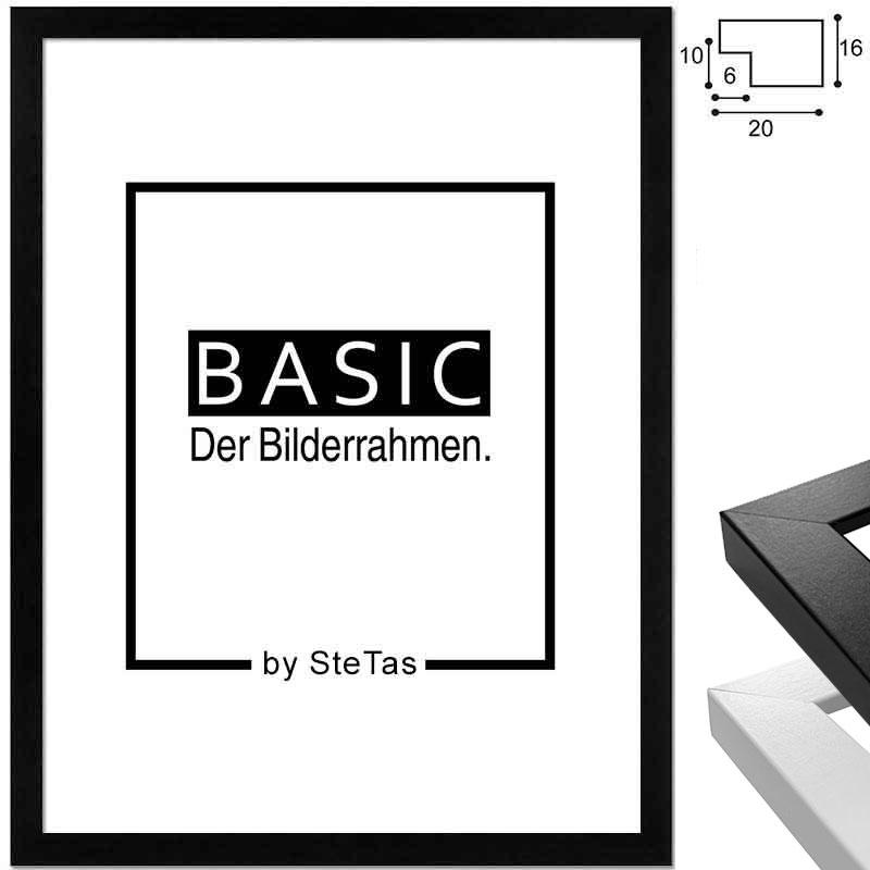 Lijst van hout Basic 21x29,7 cm (A4) | wit | kunstglas
